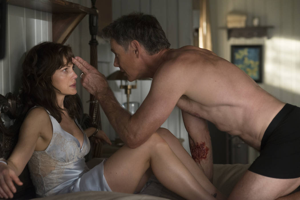 "Carla Gugino and Bruce Greenwood star in ""Gerald's Game."" (Netflix)"