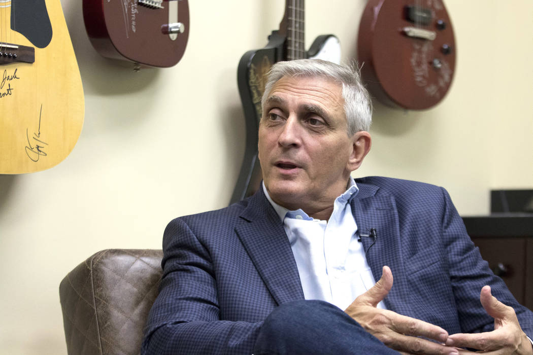 President of the Nashville Convention and Visitors Corp., Butch Spyridon, discusses how the city grew with the addition of a hockey and NFL team in the late 1990s in Nashville, Tenn., Friday, Sept ...