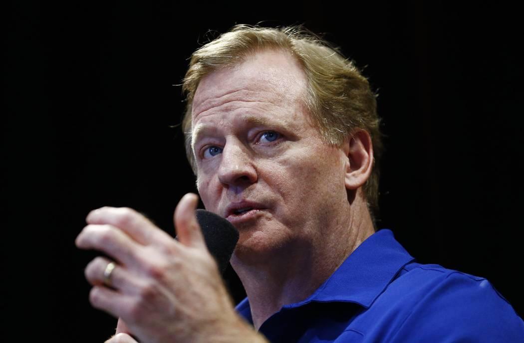 NFL Commissioner Roger Goodell. (AP Photo/Ross D. Franklin)