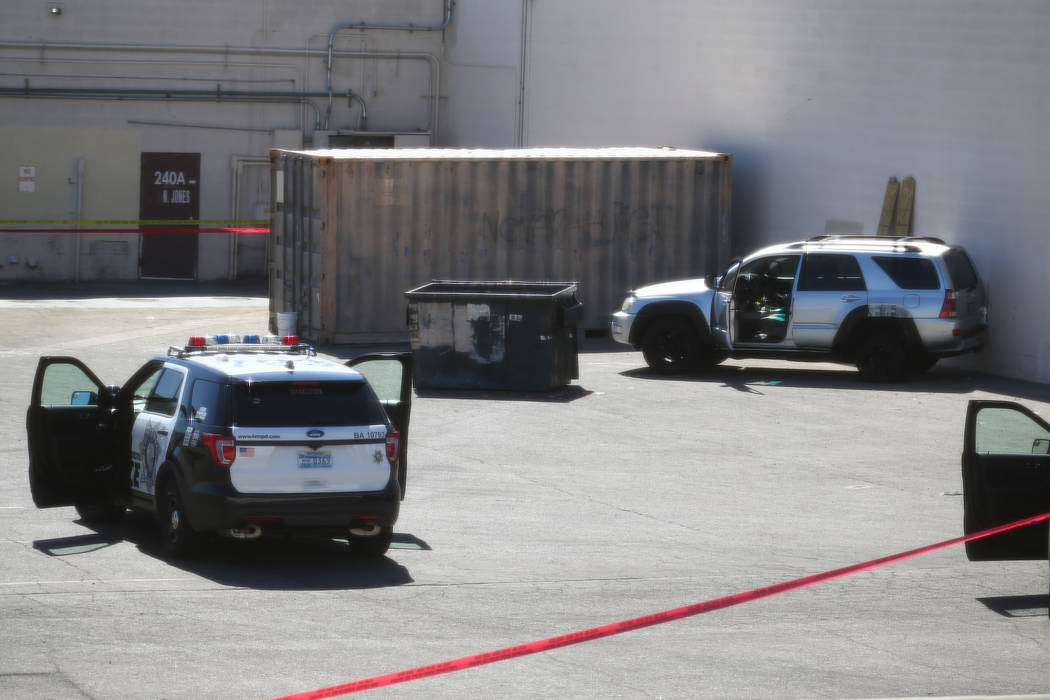 Las Vegas police investigate an officer-involved shooting that left one person dead near Jones Boulevard and U.S. Highway 95. No officers were injured. Richard Brian Las Vegas Review-Journal @Vega ...