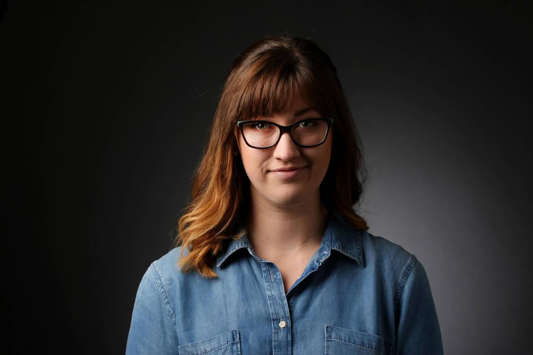 Rachel Crosby, reporter, poses for a portrait at the Las Vegas Review-Journal photos studio, Las Vegas, Jan. 20, 2017. (Elizabeth Brumley/Las Vegas Review-Journal) @EliPagePhoto