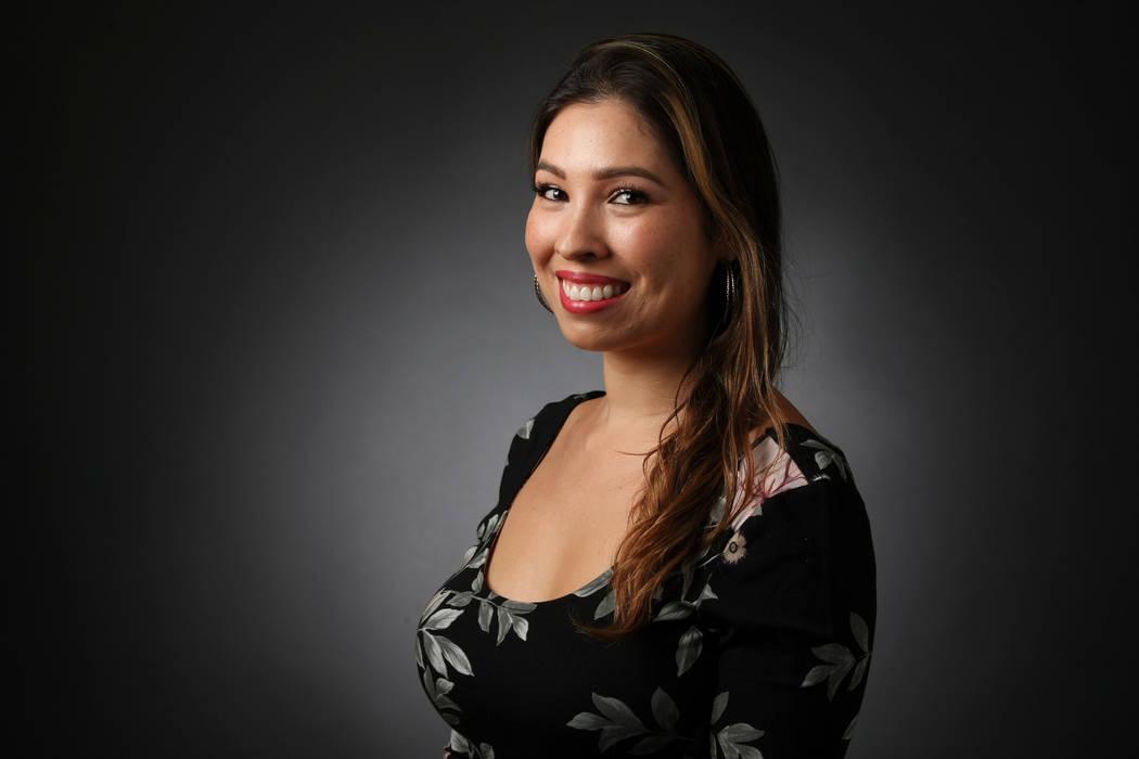 Sandy Lopez, reporter, poses for a portrait at the Las Vegas Review-Journal photos studio, Las Vegas, Jan. 16, 2017. (Elizabeth Brumley/Las Vegas Review-Journal) @EliPagePhoto