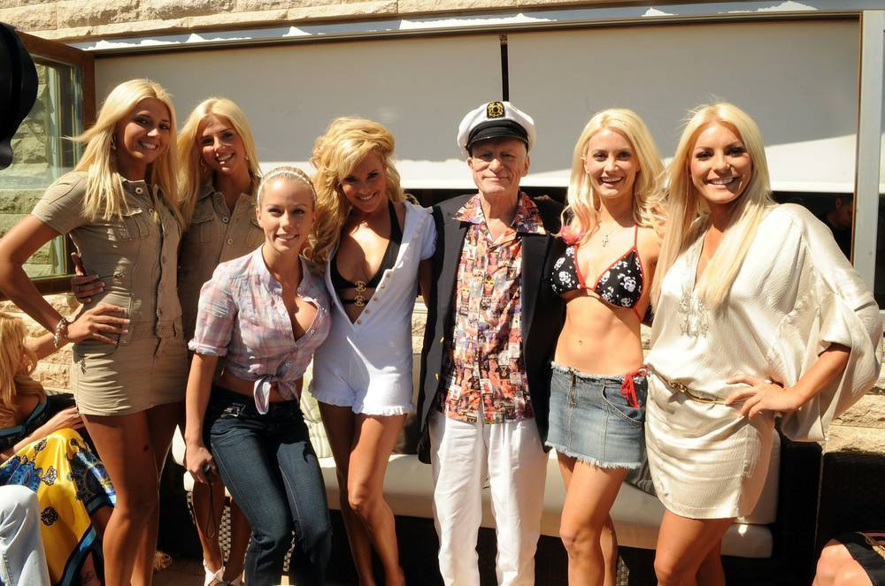 Playboy king Hugh Hefner was a regular visitor. (Courtesy)