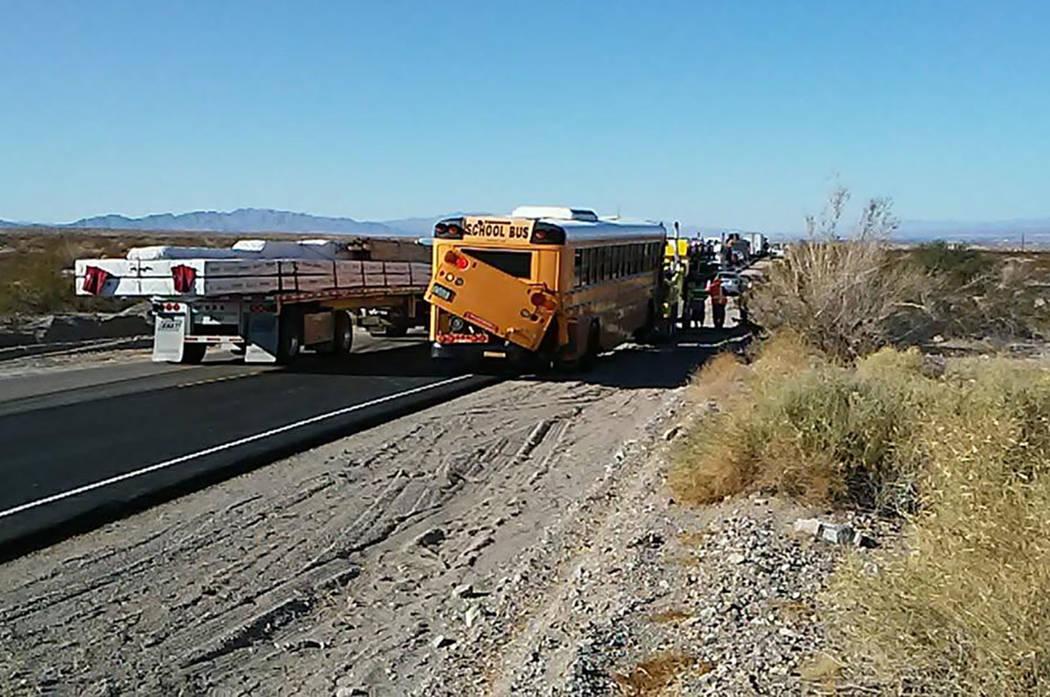 Eight Arizona high school students were hurt in a school bus crash near Needles, California, early Thursday. (ZachNews)
