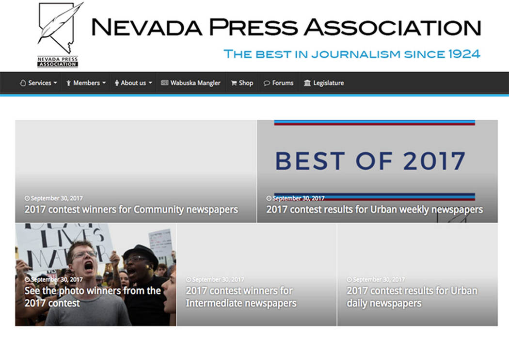Nevada Press Association (screengrab website)