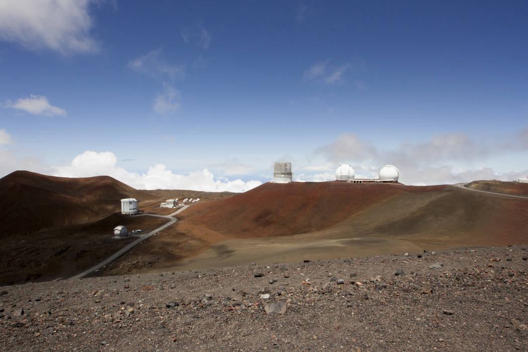 Telescopes on the summit of Mauna Kea on Hawaii's Big Island in 2015. (AP Photo/Caleb Jones, File)