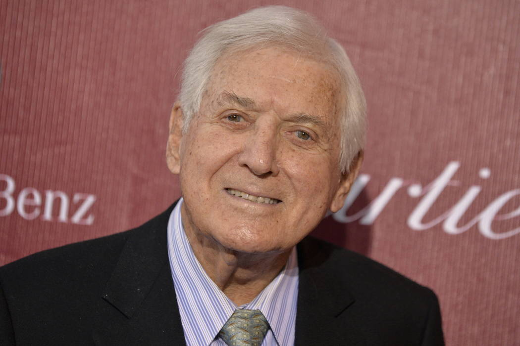 Monty Hall arrives at the Palm Springs International Film Festival Awards Gala at the Palm Springs Convention Center in Palm Springs, Calif., in 2014.  (Photo by Jordan Strauss/Invision/AP, File)