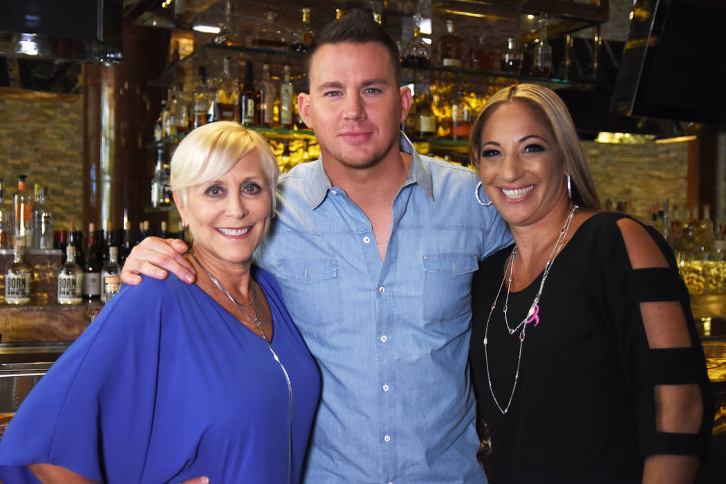 Toni Lee, Channing Tatum and Tammy Rosen are shown at Red Rock Resort during the development of the TLC cocktail, being served at all Station Casinos properties through October. (Station Casinos).