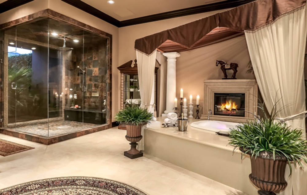 Wardley Real Estate Each of the two 2,000-square-foot master suites has large baths.
