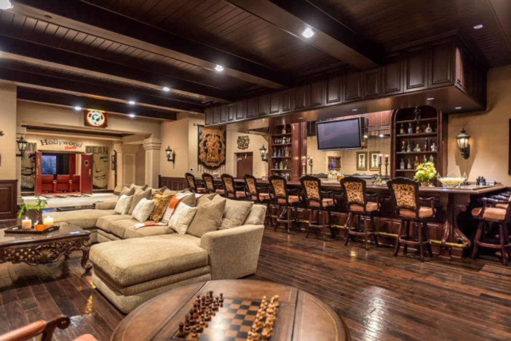 Wardley Real Estate The 1,350-square-foot Irish pub is a big part of the entertainment features of the home.