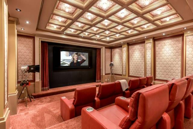 The home theater. Wardley Real Estate