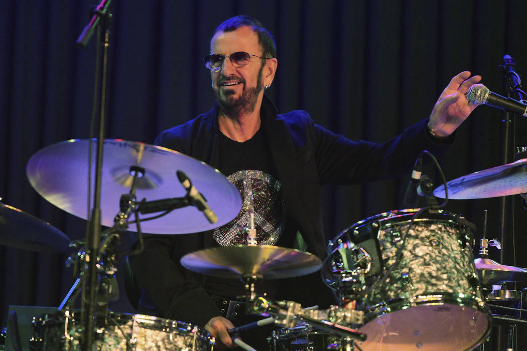 Musician Ringo Starr Performs With His All Band During A Media Event Promoting Their