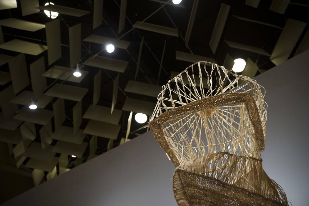 Art by Gala Porras-Kim for the upcoming Preservation exhibition at UNLV's Marjorie Barrick Museum of Art in Las Vegas, Friday, Sept. 29, 2017. Erik Verduzco Las Vegas Review-Journal @Erik_Verduzco