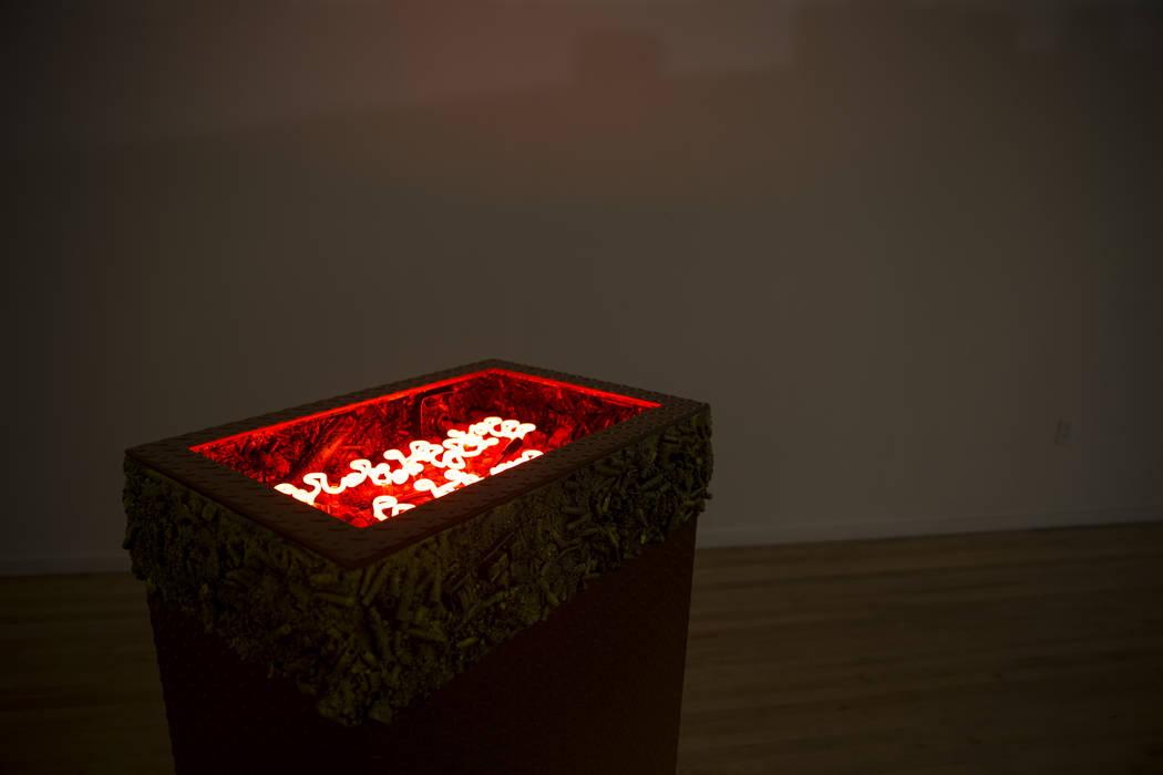 Art by Max Hooper Schneider for the upcoming Preservation exhibition at UNLV's Marjorie Barrick Museum of Art at in Las Vegas, Friday, Sept. 29, 2017. Erik Verduzco Las Vegas Review-Journal @Erik_ ...