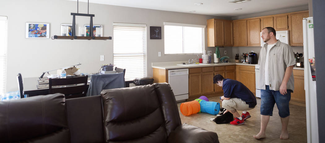 Sarah, left, and Mike DePalo in their recently purchased home in Las Vegas, Monday, Sept. 25, 2017. (Elizabeth Brumley/Las Vegas Review-Journal)