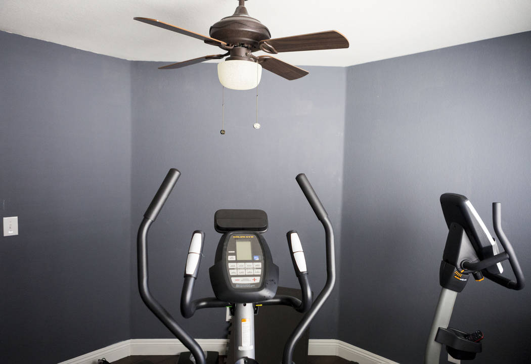 A room turned into a work out space in the recently purchased home of Sarah and Mike DePalo, in Las Vegas, Monday, Sept. 25, 2017. (Elizabeth Brumley/Las Vegas Review-Journal)