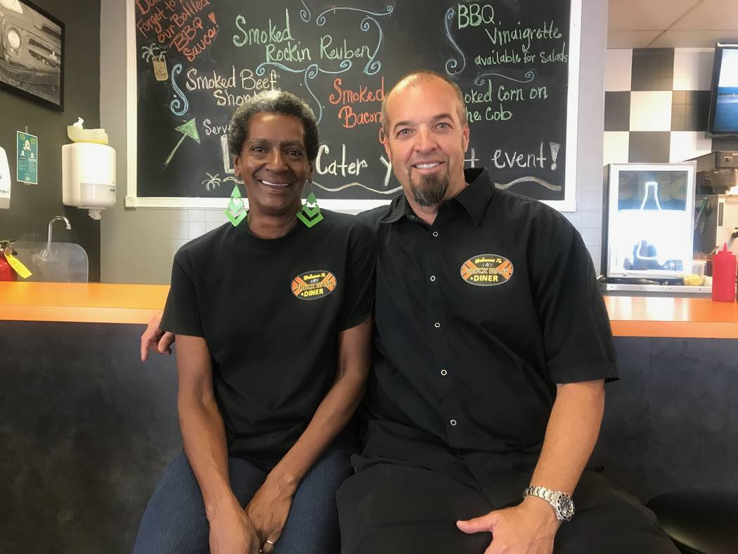 SNS Barbeque Celeste Findley and owner Michael Poniewaz pose for a portrait on Sept. 22, 2017 at SNS Barbeque, 1100 E. Colton Ave. (Kailyn Brown/View) @KailynHype
