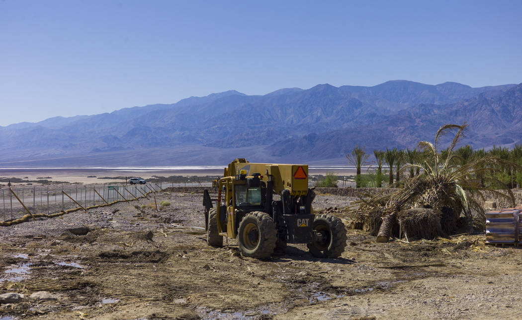 A heavy equipment vehicle near the Inn at Death Valley on Thursday, Sept. 28, 2017. Originally called the Furnace Creek Ranch, the newly renamed resort area at the famed national park is undergoin ...