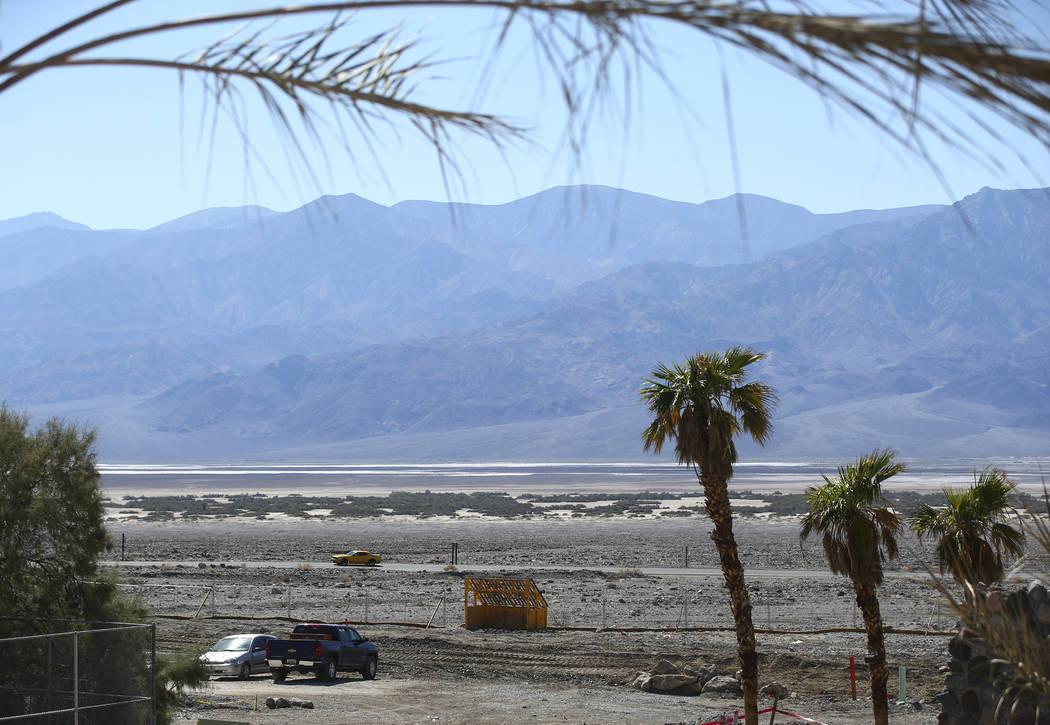 A view looking out from the Inn at Death Valley on Thursday, Sept. 28, 2017. Originally called the Furnace Creek Ranch, the newly renamed resort area at the famed national park is undergoing a mul ...