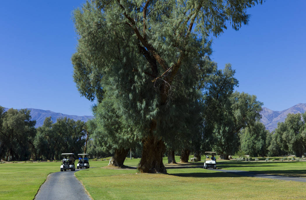 The Furnace Creek Golf Course at the Oasis at Death Valley on Thursday, Sept. 28, 2017. Originally called the Furnace Creek Ranch, the newly renamed resort area at the famed national park is under ...
