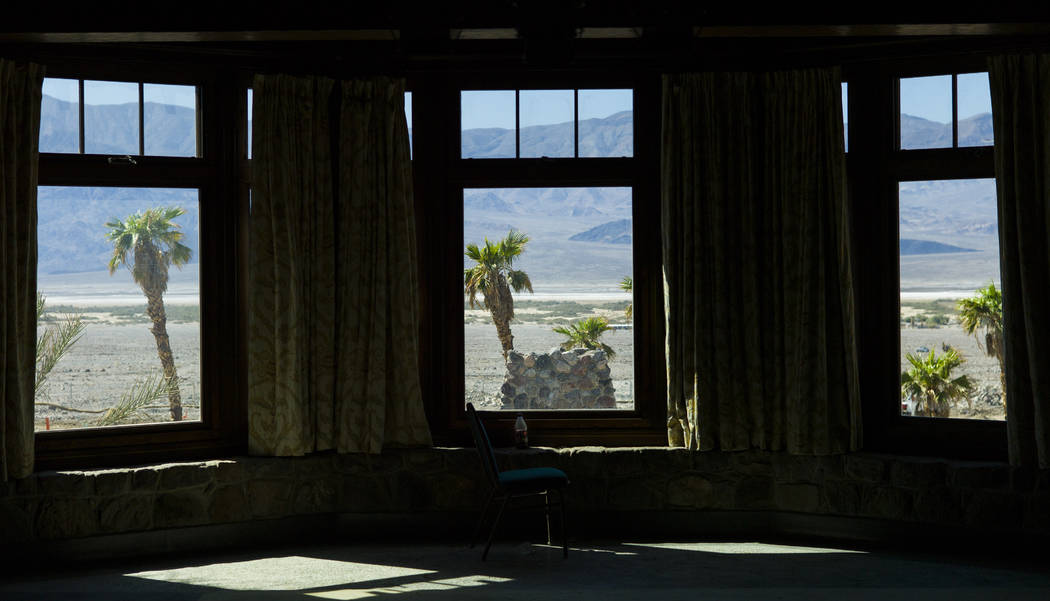 The view from an event room at the Inn at Death Valley on Thursday, Sept. 28, 2017. Originally called the Furnace Creek Ranch, the newly renamed resort area at the famed national park is undergoin ...