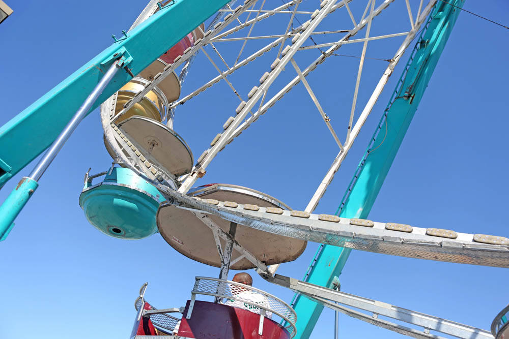 Visitors of the Great American Foodie Fest ride a Ferris wheel at the festival at the Sunset Station in Henderson, Sunday, Oct.1, 2017. Elizabeth Brumely Las Vegas Review-Journal