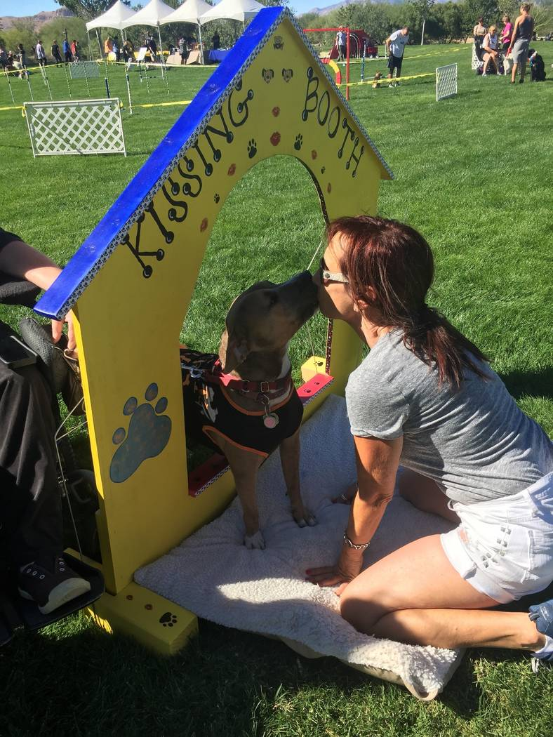 There will be a kissing booth and other activities at the annual free Family, Fur & Fun Festival on Oct. 14 at Mountain's Edge.  (Courtesy)