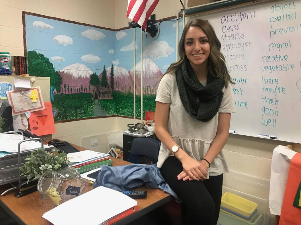 Fourth grade teacher Amanda Hosseini poses for a portrait on Sept. 28, 2017 Lucile S. Bruner Elementary School, 4289 Allen Lane. (Kailyn Brown/View) @KailynHype
