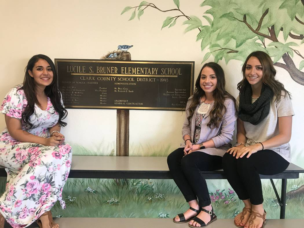 From left, first year teachers Madonna Hakim, Emily Rios and Amanda Hosseini pose for a portrait on Sept. 28, 2017 Lucile S. Bruner Elementary School, 4289 Allen Lane. (Kailyn Brown/View) @KailynHype