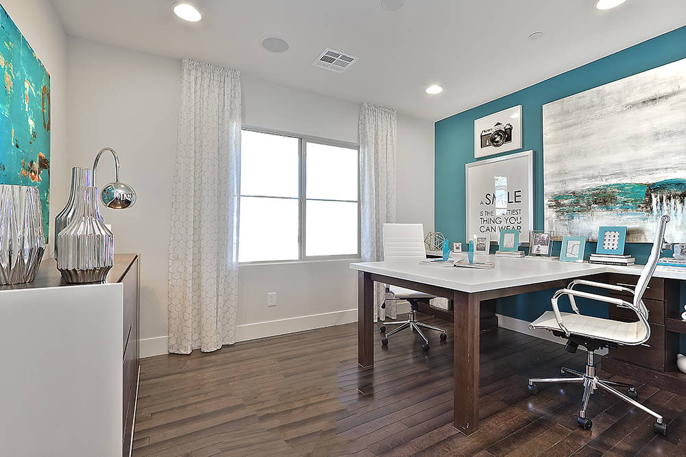 The Bellamar floor plan in CalAtlantic Home's Santa Rosa offers a first-floor office. (CalAtlantic Homes)
