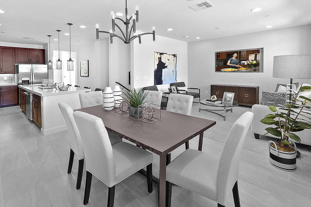Model homes in Santa Rosa, a town home development in Summerlin will be ready for viewing Sept. 30. (CalAtlantic Homes)