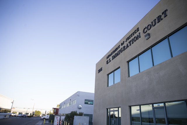 The Department of Justice U.S. Immigration Court on Friday, Feb. 24, 2017, in Las Vegas. (Erik Verduzco/Las Vegas Review-Journal) @Erik_Verduzco