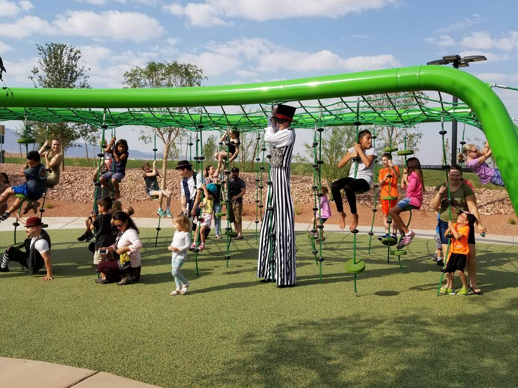 Cadence, a 2,200-acre master-planned community in Henderson, opened its adventure playground on Sept. 16. (Cadence)