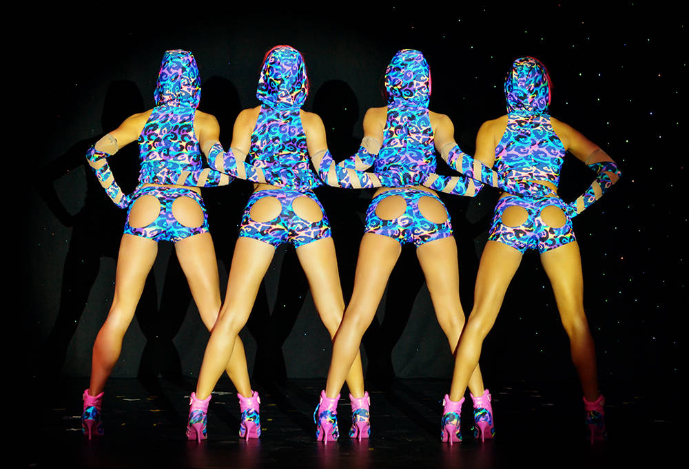 """The staff of """"Crazy Girls"""" in the Sin City Theater at Planet Hollywood will celebrate 30 years on the Strip on Oct. 5. (Bill Hughes)"""