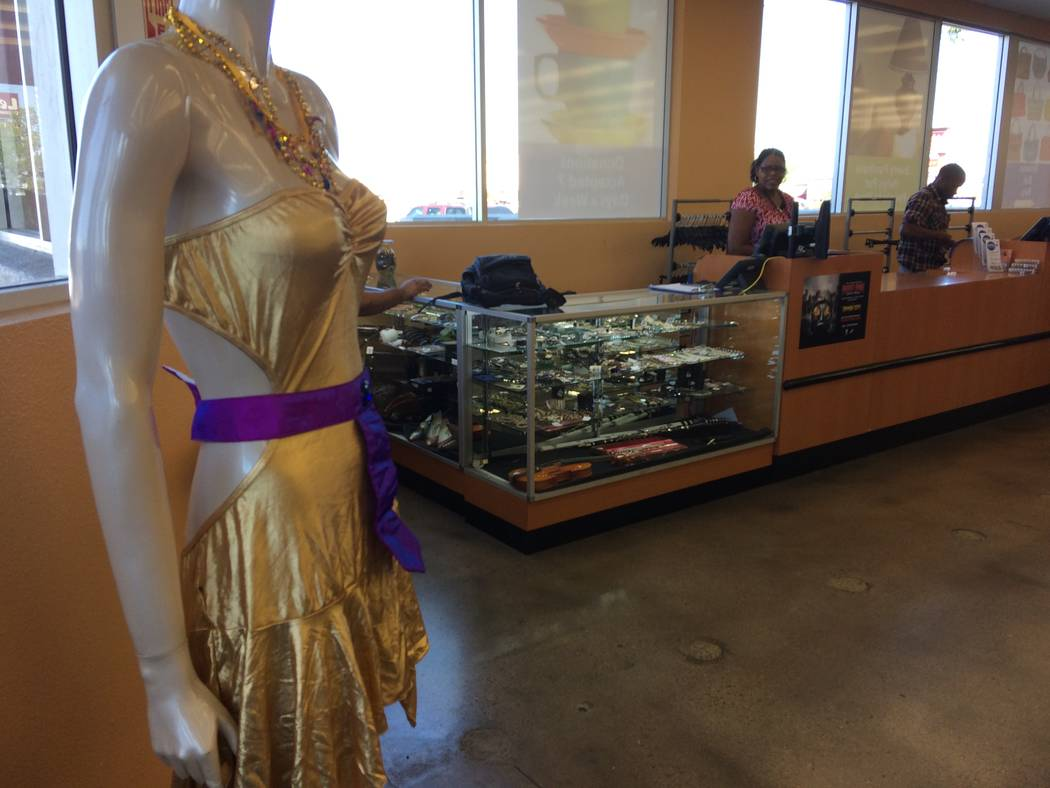 A manequinn, seen Sept. 27, 2017, at Goodwill, 9385 W. Flamingo Road,  is decked out to show patrons how to make a great Halloween costume. The nonprofit said most patrons buy items with which the ...