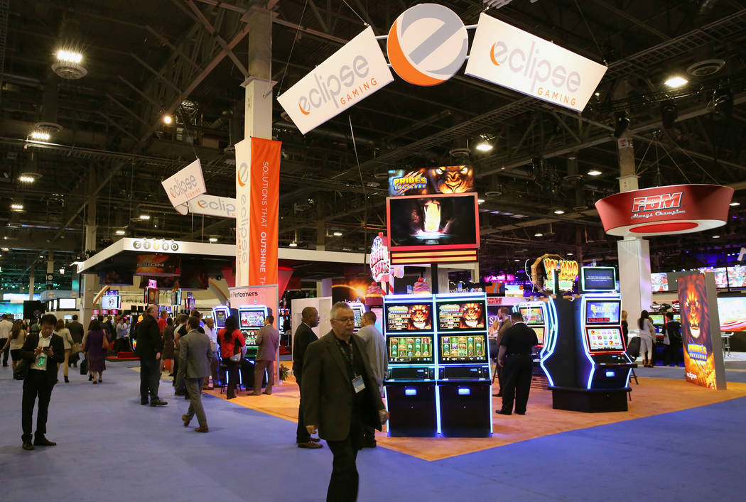 Expo goers at Global Gaming Expo at the Sands Expo and Convention Center on Thursday Oct. 5, 2017, in Las Vegas. Bizuayehu Tesfaye Las Vegas Review-Journal @bizutesfaye