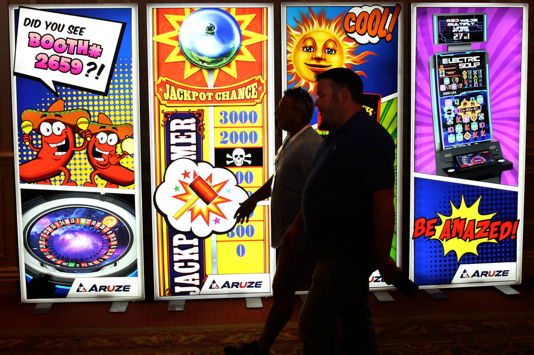 Expo goers arrive at Global Gaming Expo at the Sands Expo and Convention Center on Thursday Oct. 5, 2017, in Las Vegas. Bizuayehu Tesfaye Las Vegas Review-Journal @bizutesfaye