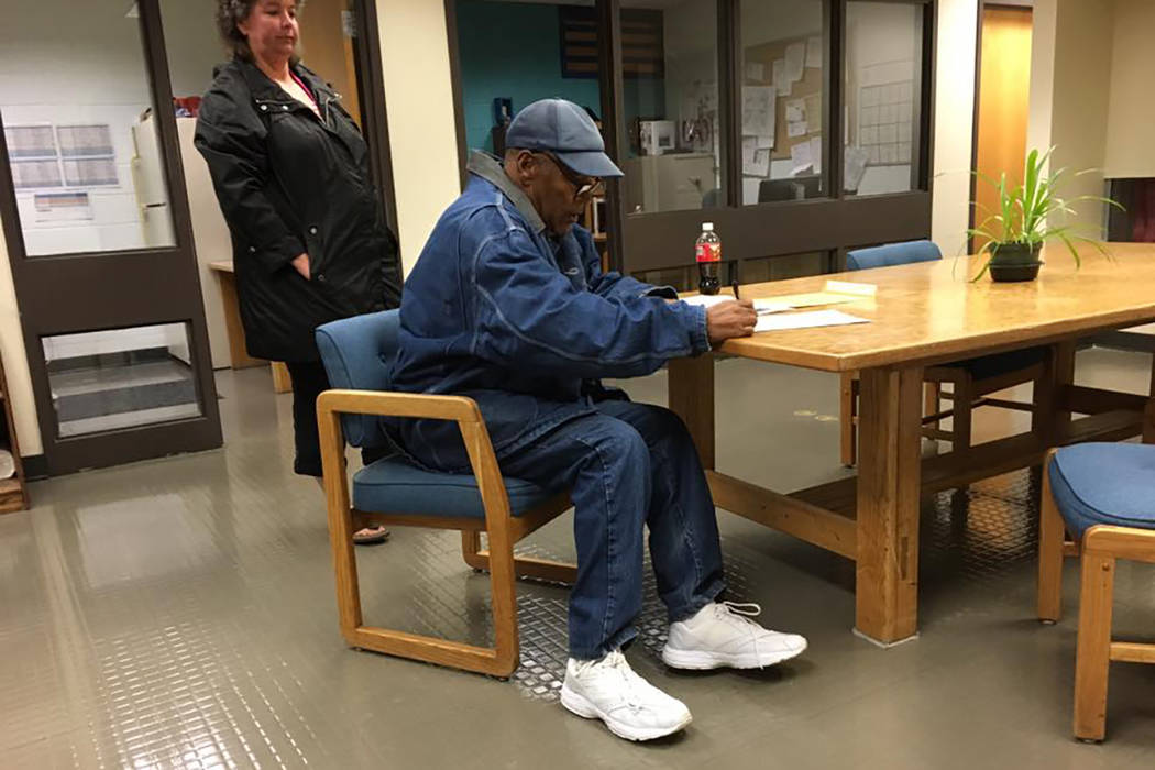 O.J. Simpson is released from Lovelock Correctional Center in Northern Nevada early Sunday morning, Oct. 1, 2017. (Nevada Department of Corrections)
