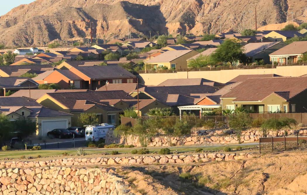 The Mesquite neighborhood where Stephen Paddock lived with white crime scene investigation van on street. Michael Quine/Las Vegas Review-Journal @Vegas88s