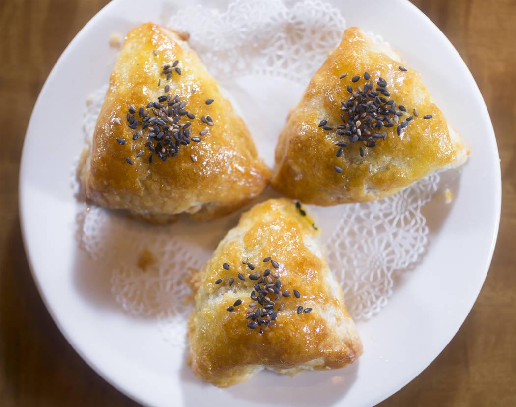 The bbq pork sesame pastry at Ping Pang Pong on Wednesday, September 27, 2017, at Gold Coast hotel/casino, in Las Vegas. Benjamin Hager Las Vegas Review-Journal @benjaminhphoto