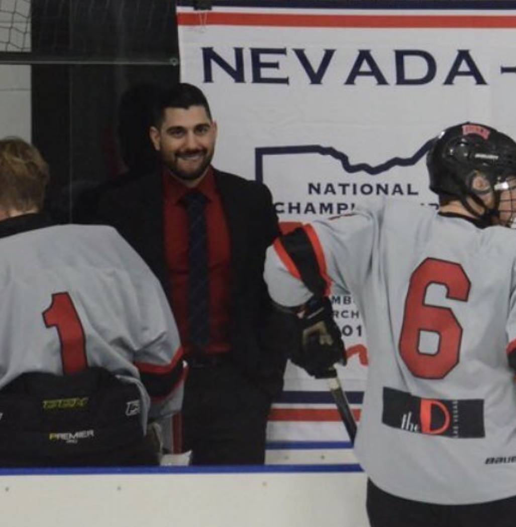 Nick Robone, 28, a UNLV assistant hockey coach, was shot in the chest at the Route 91 Harvest Festival. Photo courtesy of UNLV hockey.