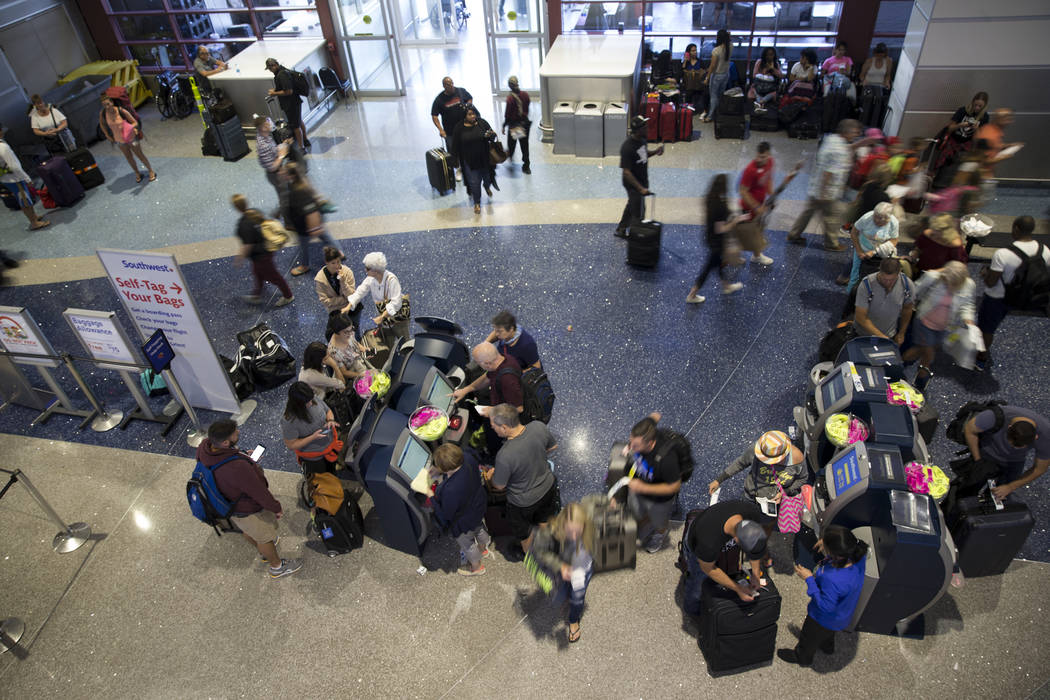 Terminal 1 at McCarran International Airport in Las Vegas, Monday, Oct. 2, 2017. Erik Verduzco/Las Vegas Review-Journal