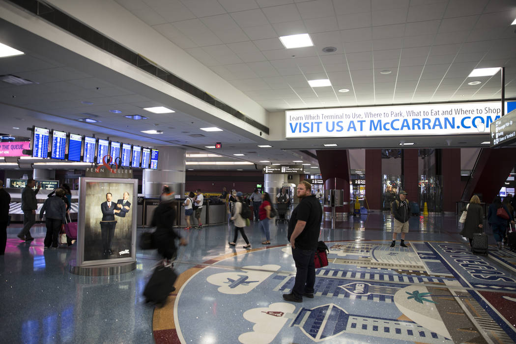 Terminal 1 at McCarran International Airport in Las Vegas, Monday, Oct. 2, 2017. Erik Verduzco/Las Vegas Review-Journal