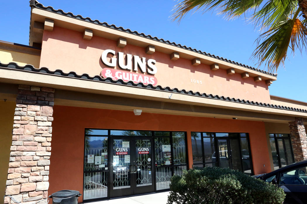 Mesquite gun store Guns and Guitars on Monday, Oct. 2, 2017 where Mandalay Bay gunman Stephen Paddock had been known to shop. Michael Quine/Las Vegas Review-Journal @Vegas88s