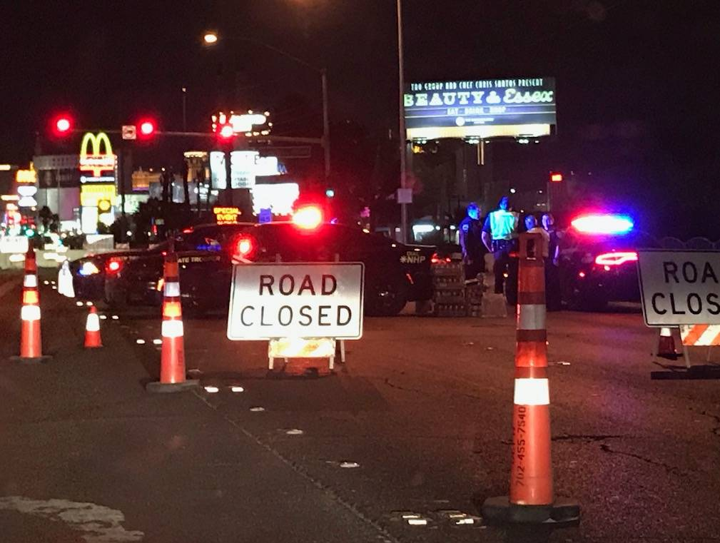 A portion of Las Vegas Boulevard South could remain closed most of the week as investigators continue to search the crime seen where 59 people were killed Sunday. (Todd Prince/Las Vegas Review Jou ...