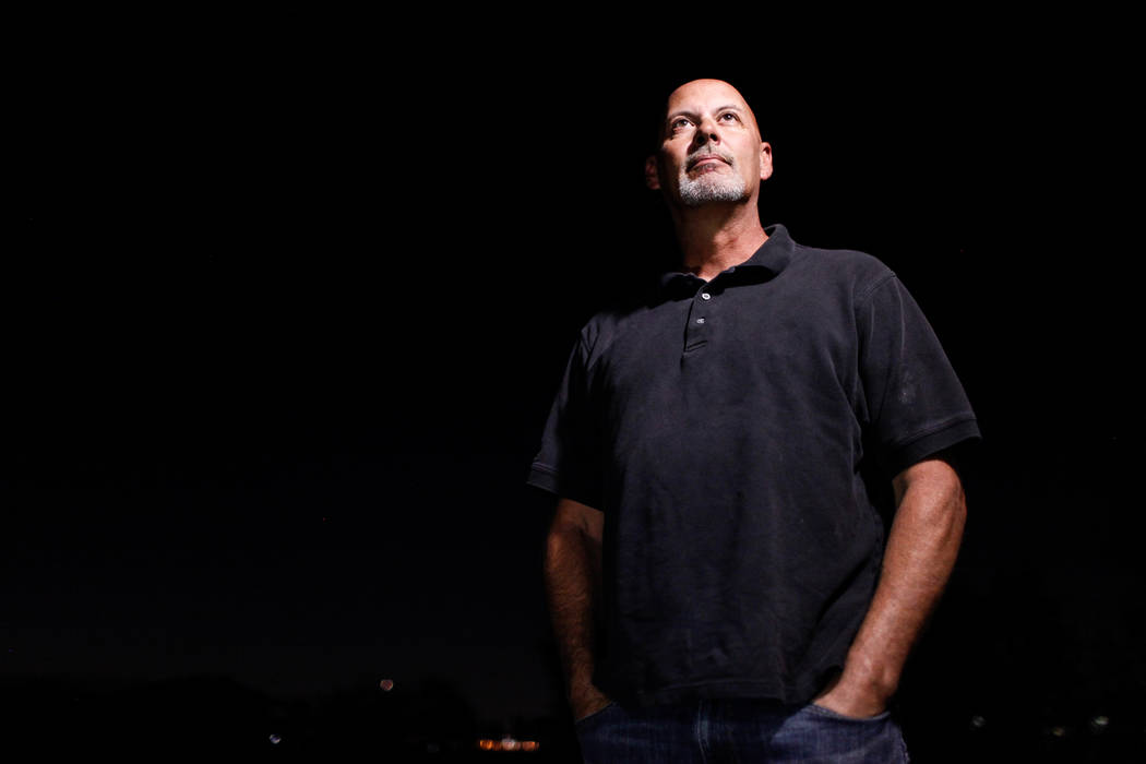 Raymond Page, 52, a Clark County traffic systems technician, poses for a portrait in Henderson, Tuesday, Oct. 3, 2017. Page said he loaded up his truck with at least eight people that were wounded ...