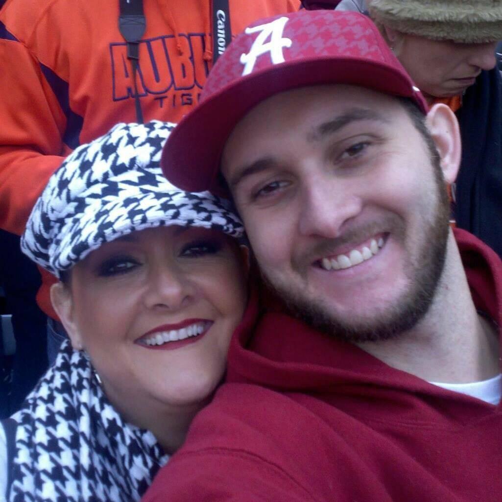 Dana Rushing with her son, Owen Searcy. Dana Rushing