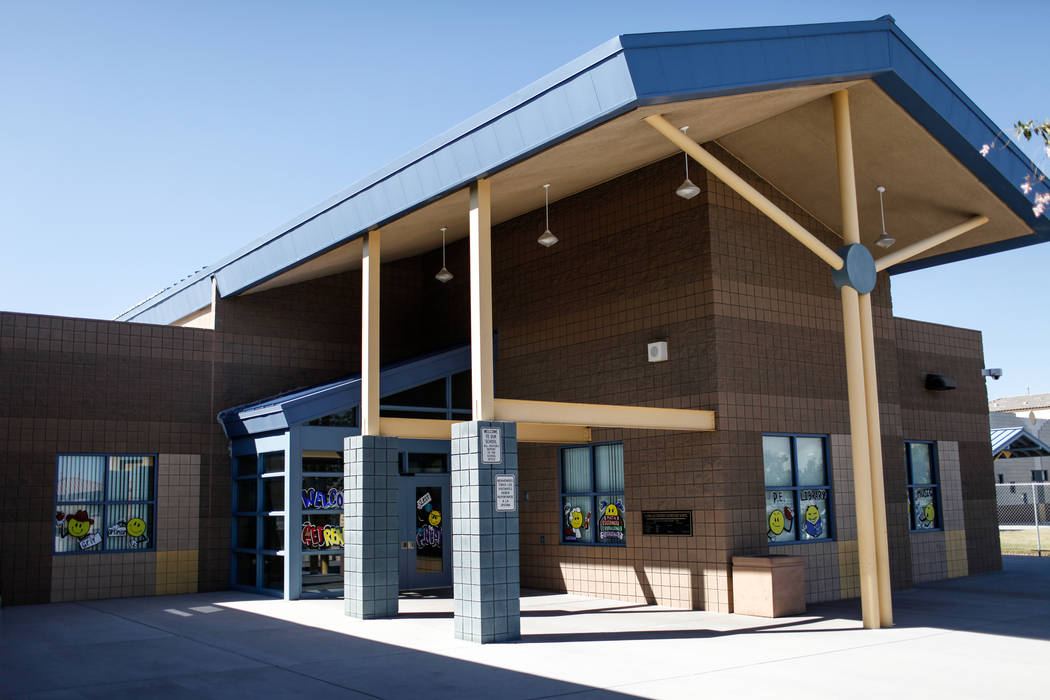 Sandra Lee Thompson Elementary in Las Vegas, Thursday, Oct. 5, 2017. The elementary school is one of two Clark County School District schools to receive a national Blue Ribbon award this year. Joe ...
