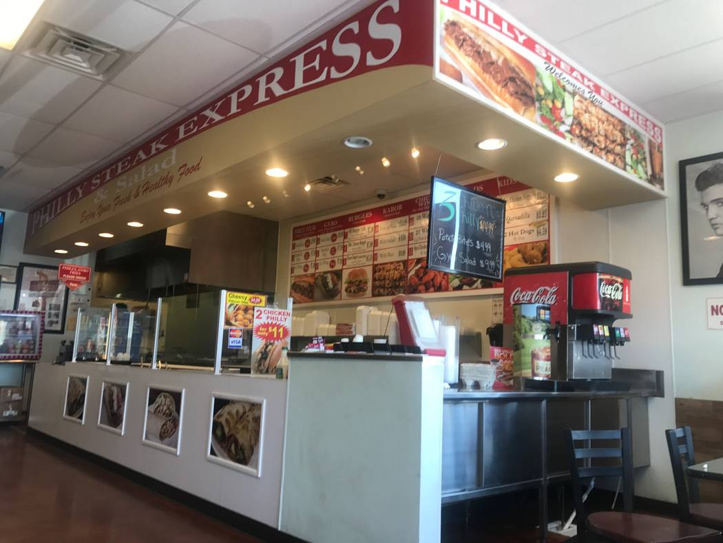 An interior shot of Philly Steak Express on Sept. 15, 2017 at 6446 N. Durango Drive. (Kailyn Brown/View) @KailynHype