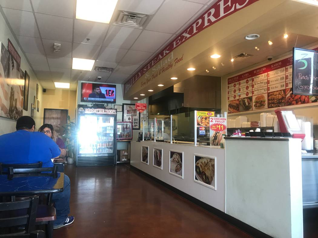 Customers dining at Philly Steak Express on Sept. 15, 2017 at 6446 N. Durango Drive. (Kailyn Brown/View) @KailynHype